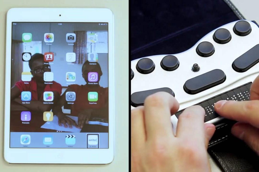 Braillepen 12 met tablet