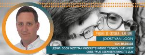 banner lezing Joost van Loon